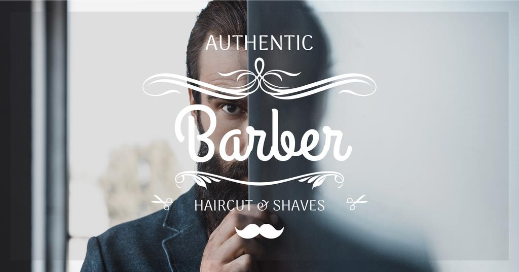 advertisement poster for barbershop — Створити дизайн
