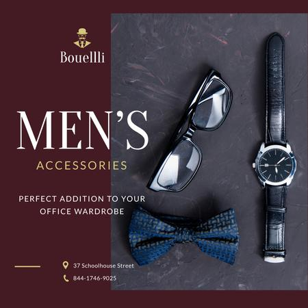 Plantilla de diseño de Stylish Male Accessories Store Ad Instagram
