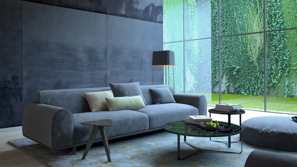 Modern Interior with Sofa in grey — Maak een ontwerp