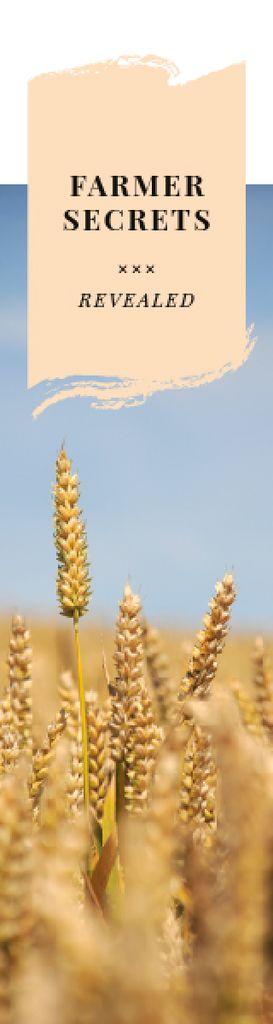 Farming Secrets Wheat Ears in Field — Create a Design