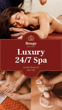 Spa Center Promotion Woman at Massage Instagram Story Design Template