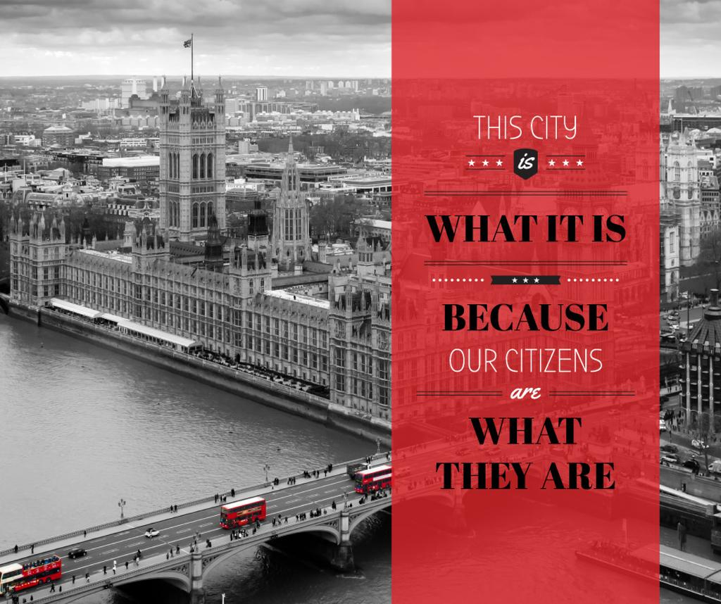 City quote with London view — Создать дизайн