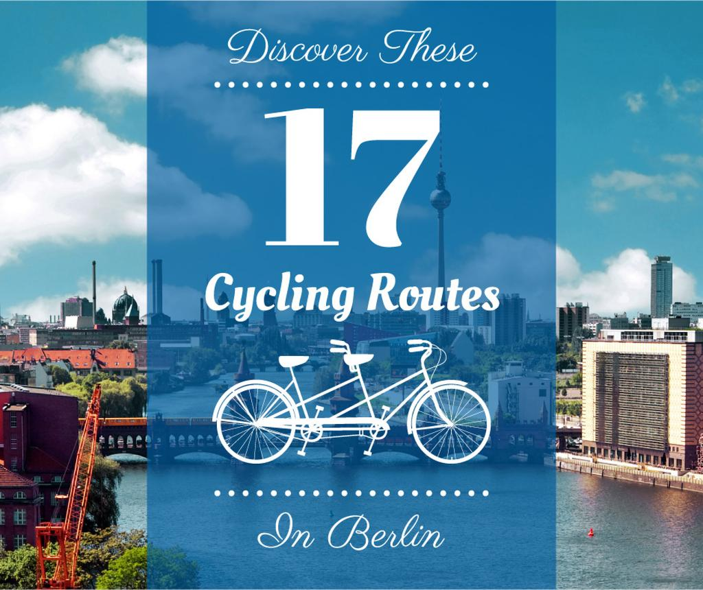 Cycling routes in Berlin poster — Create a Design