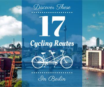 Cycling routes in Berlin poster