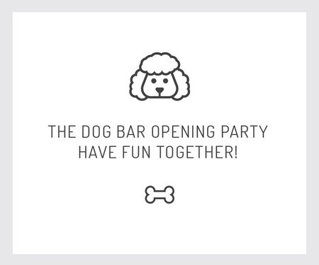 Ontwerpsjabloon van Large Rectangle van The dog bar opening party