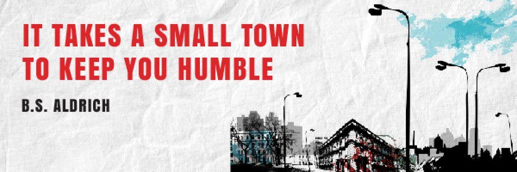 Citation about small town — Créer un visuel