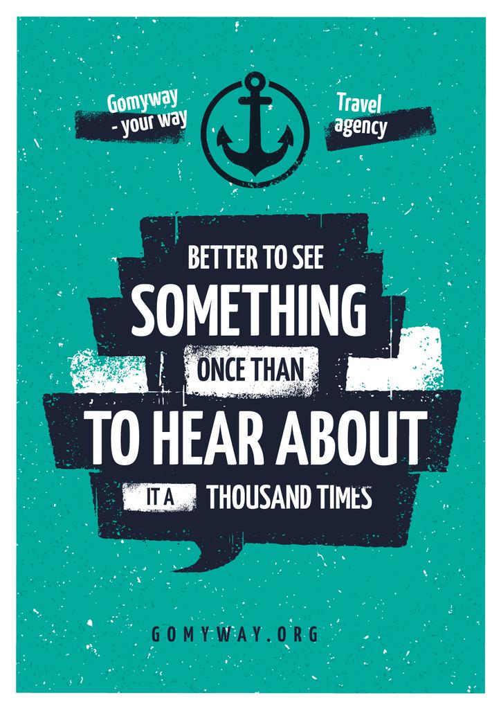 Travel Quote with Anchor Icon — Crear un diseño
