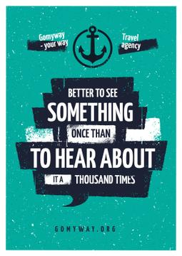 Travel Quote with Anchor Icon | Poster Template