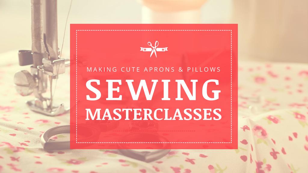 Template di design Sewing day Masterclasses Ad Youtube