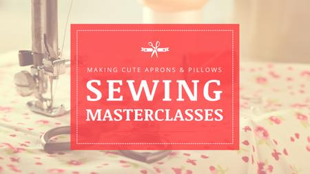 Plantilla de diseño de Sewing day Masterclasses Ad Youtube