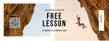 Climbing Club offer with Woman in Mountains