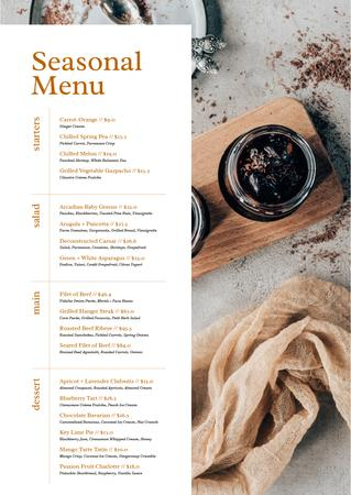 Plantilla de diseño de Seasonal Summer meal Menu