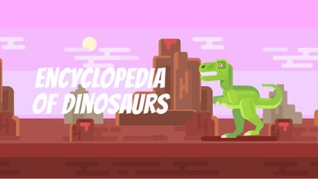 Template di design Tyrannosaur Rex Stomping in Jurassic Landscape Full HD video