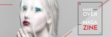 Plantilla de diseño de Makeover magazine poster Twitter