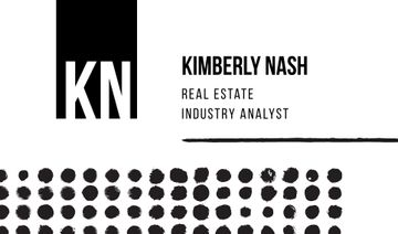 Real Estate Analyst with Dots Pattern