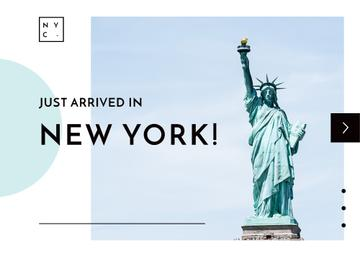 Liberty Statue in New York | Postcard Template