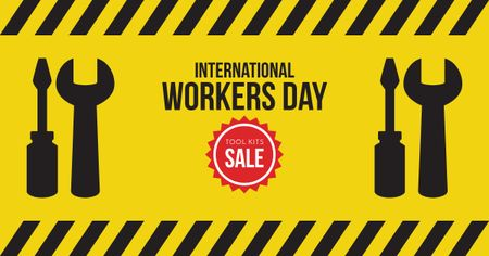 Sale on International Workers Day Facebook AD Design Template