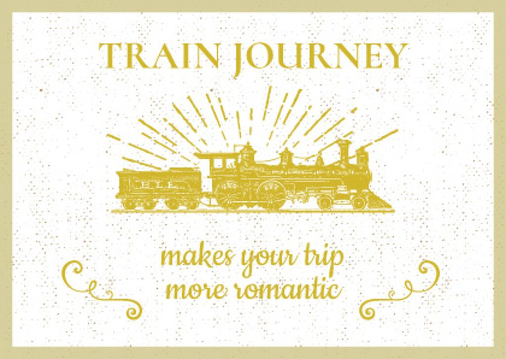 Train journey poster — ein Design erstellen