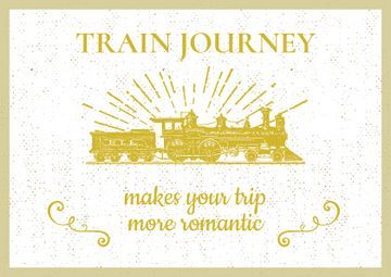 Train Journey Vintage Locomotive | Postcard Template