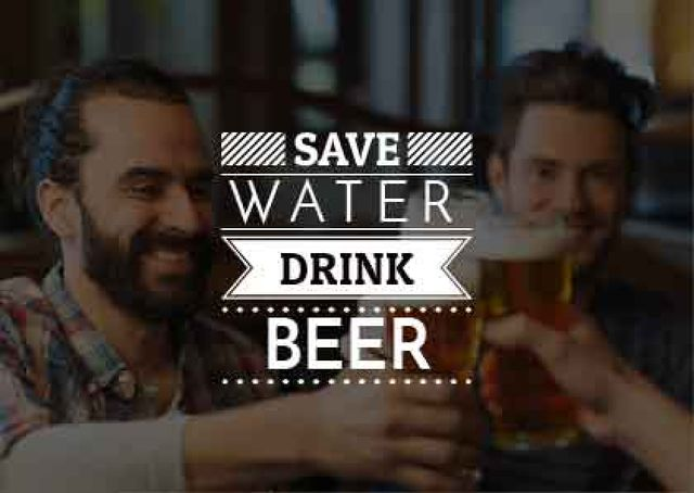 Template di design Men drinking Beer Card