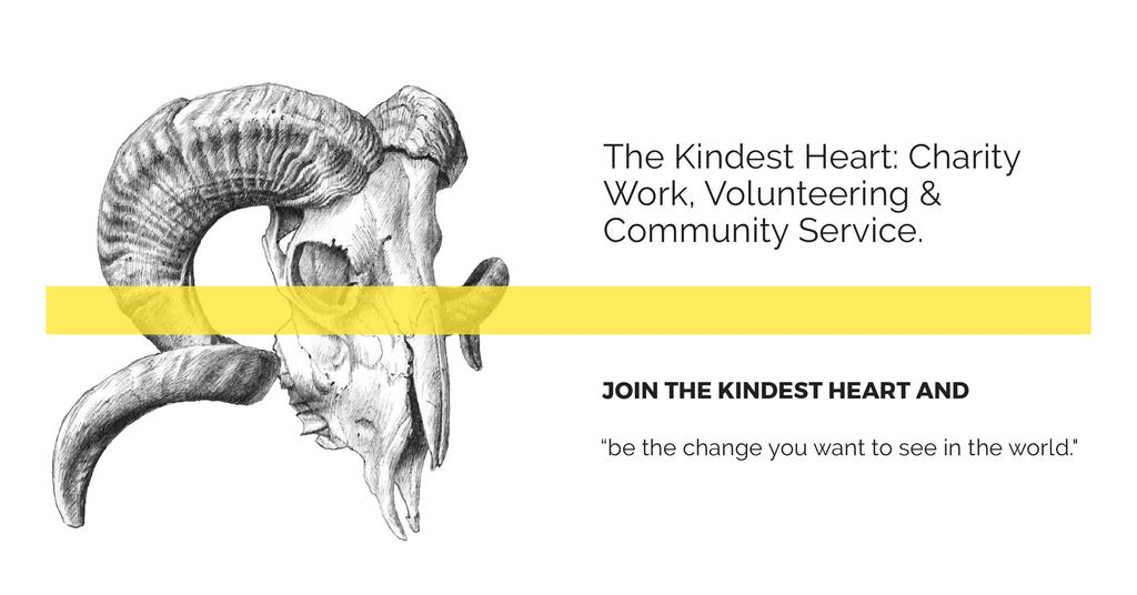 The Kindest Heart Charity Work Facebook AD Design Template