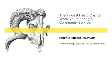Plantilla de diseño de The Kindest Heart Charity Work Facebook AD