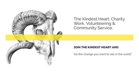 Modèle de visuel The Kindest Heart Charity Work - Facebook AD