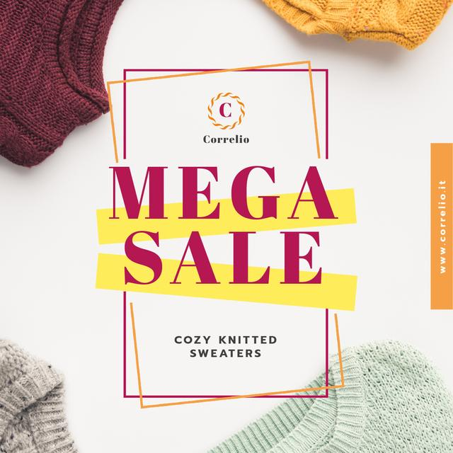 Special Sale with Colorful sweaters Animated Post Modelo de Design