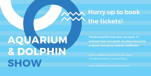 Plantilla de diseño de Aquarium & Dolphin show Image