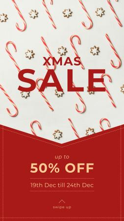 Plantilla de diseño de Christmas Sale Ad with Sweets Instagram Story