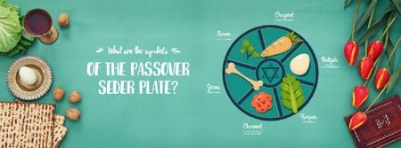 Happy Passover dinner table Facebook Video cover Modelo de Design