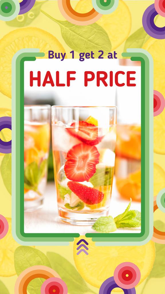 Summer Drink Offer with Berries | Stories Template — Создать дизайн