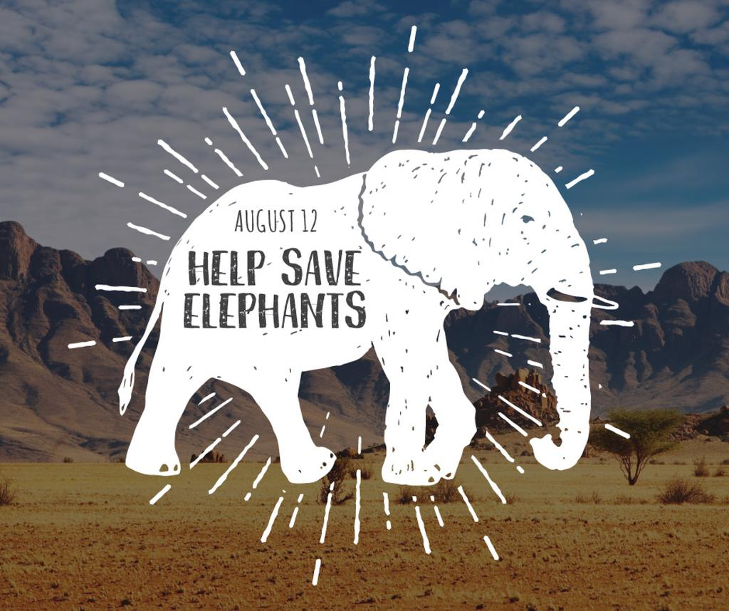 Help save elephants banner — Crea un design