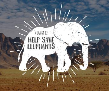 Help save elephants banner