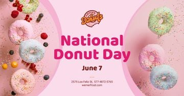 National Donut Day Offer Sweet Glazed Rings