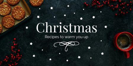 Plantilla de diseño de Christmas ginger cookies Twitter