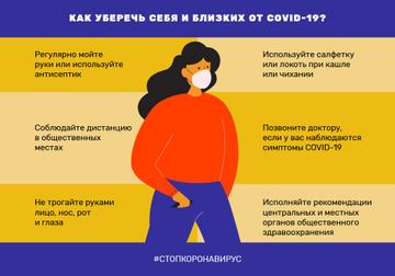 #стопкоронавирус защитные меры с женщиной в маске