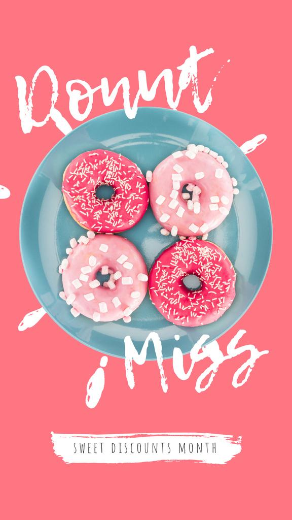 Bakery Offer Delicious Pink Doughnuts — Créer un visuel