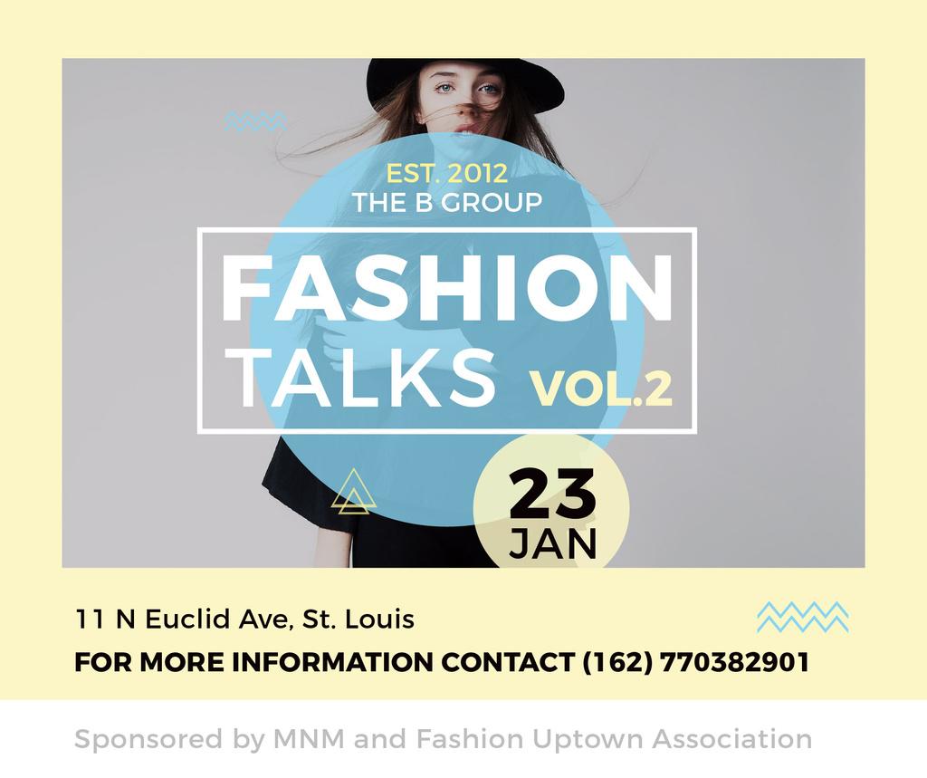 Fashion talks announcement with Stylish Woman — Modelo de projeto