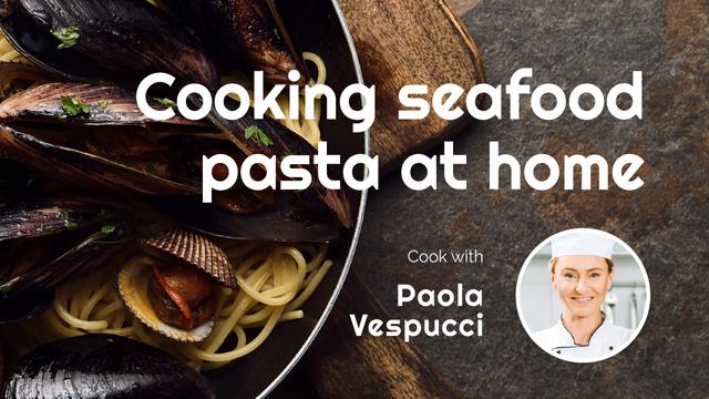 Seafood Pasta Recipe for Homecooking Youtube Thumbnail Tasarım Şablonu