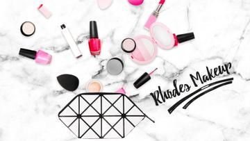 Beauty Products Filling Cosmetic Bag | Full Hd Video Template