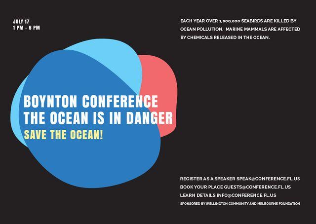 Plantilla de diseño de Boynton conference the ocean is in danger Card