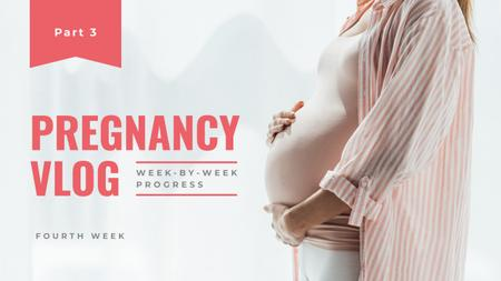 Modèle de visuel Pregnancy Vlog Promotion - Youtube Thumbnail