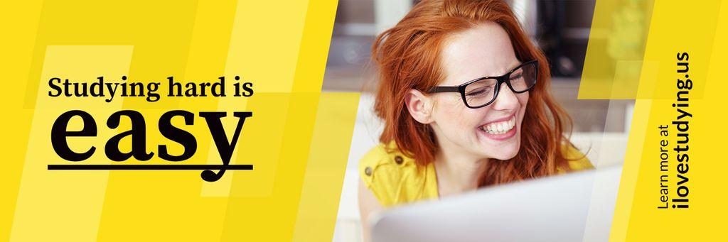 Studying hard is easy poster — Modelo de projeto