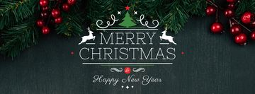 Christmas Greeting Fir Tree Branches | Facebook Cover Template