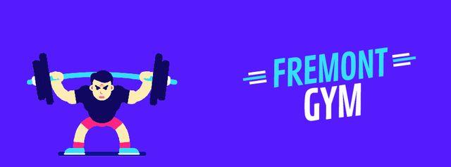 Fremont Gym Facebook Video coverデザインテンプレート