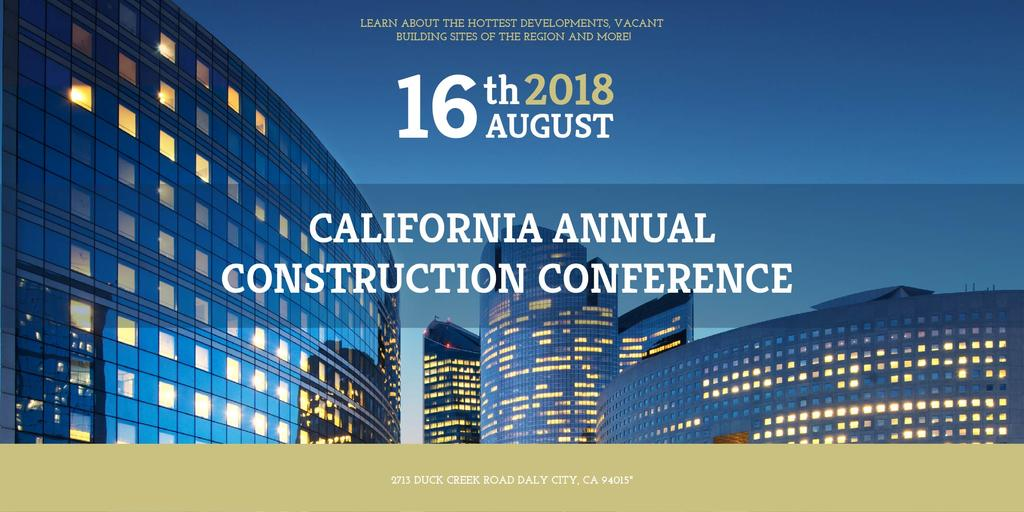 Annual construction conference announcement — ein Design erstellen