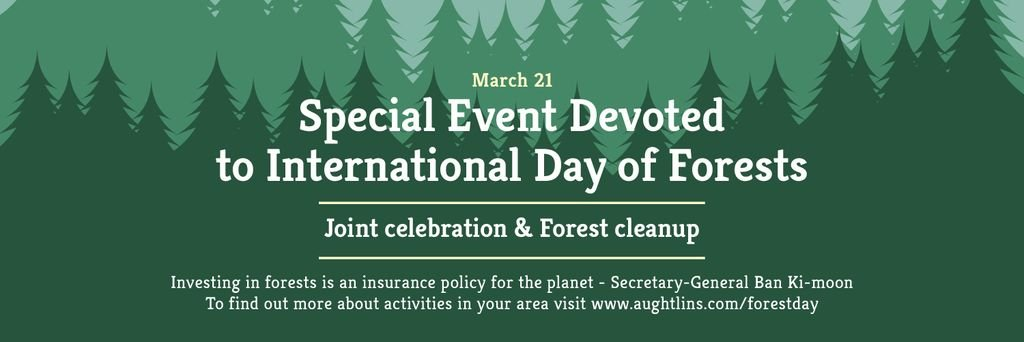 International Day of Forests Event Announcement in Green — Создать дизайн