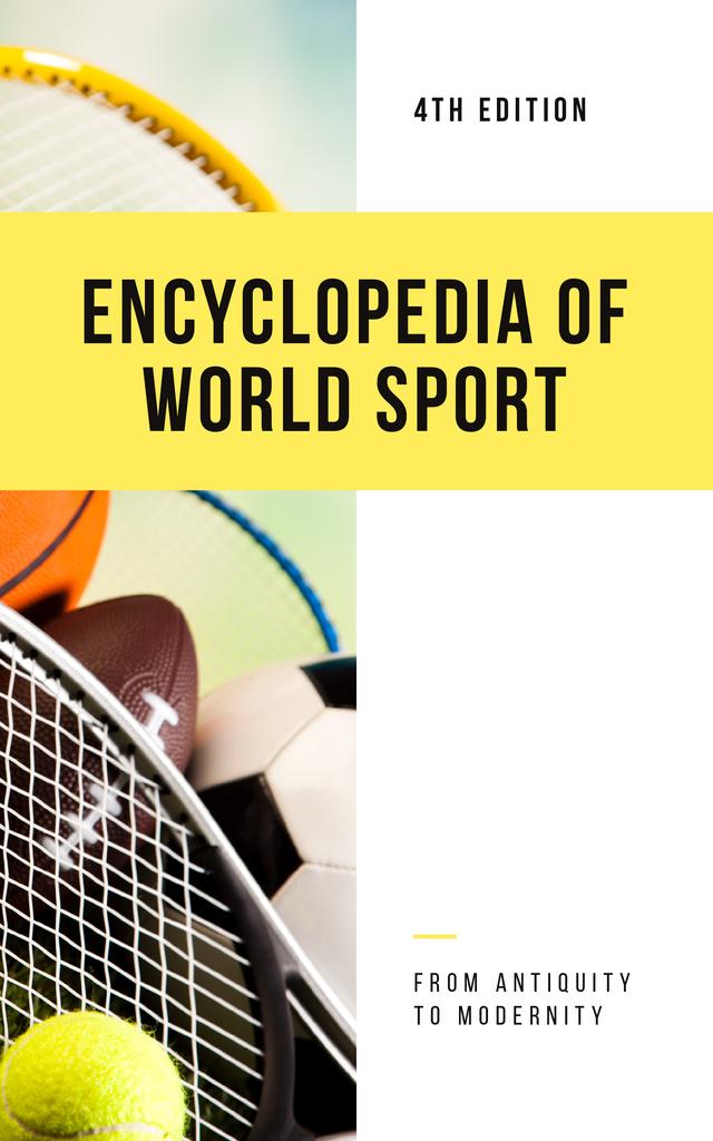 Sports Encyclopedia Different Balls Book Cover – шаблон для дизайна