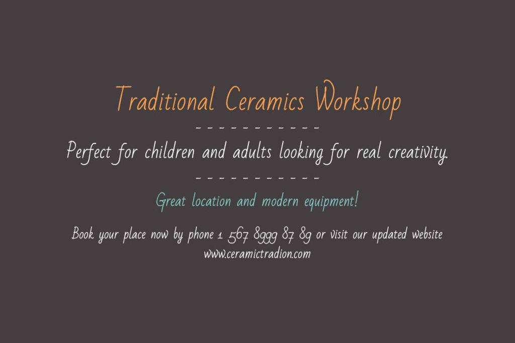 Traditional Ceramics Workshop — Crear un diseño